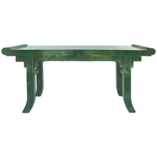 Overscale Goatskin Console Table in an Altar Table Style For Sale