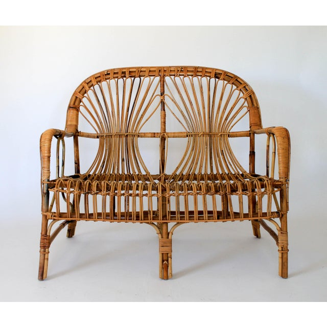 Franco Albini Style Loveseat or Settee For Sale - Image 9 of 9