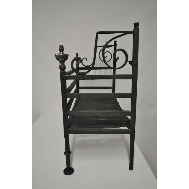 Metal 17th Century Dutch Iron Fire Grate For Sale - Image 7 of 10