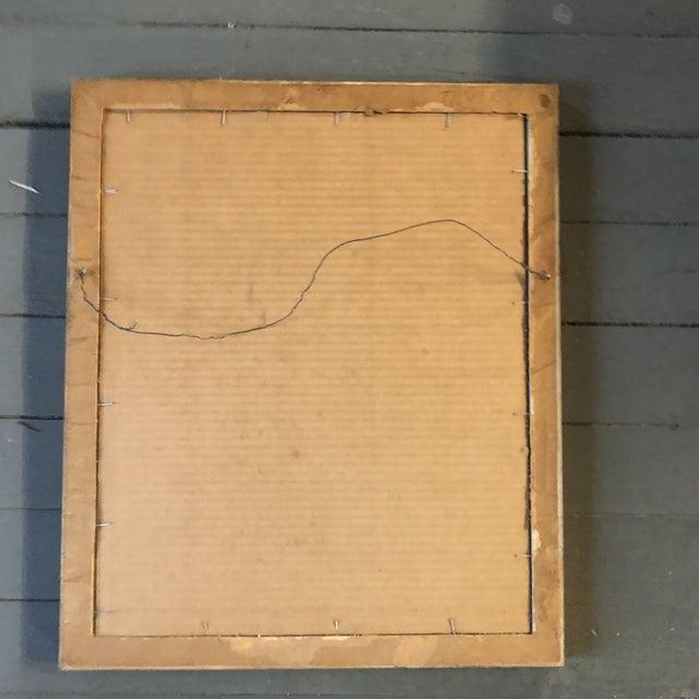 Vintage Modernist Female Nude Charcoal Study Drawing Vintage Gilt Frame For Sale - Image 4 of 5