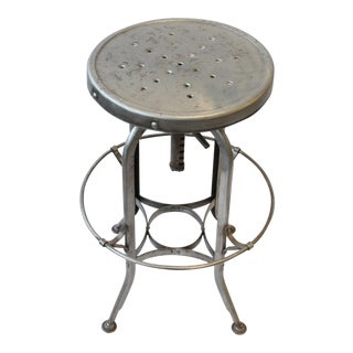 1930's Vintage Toledo Industrial Stool For Sale