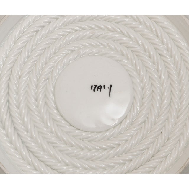 Italian Coiled-Rope Plates - Set of 6 - Image 5 of 5
