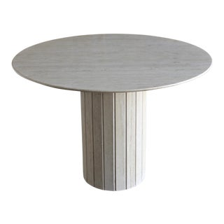 1980s Modern Travertine Centre Table For Sale