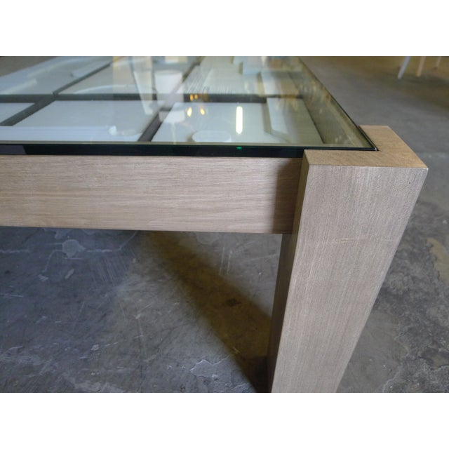 Metal Modernist Frieze Cocktail Table by Paul Marra For Sale - Image 7 of 10