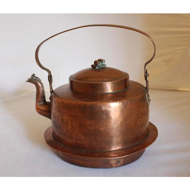 Large Copper Tea Kettle For Sale - Image 9 of 9