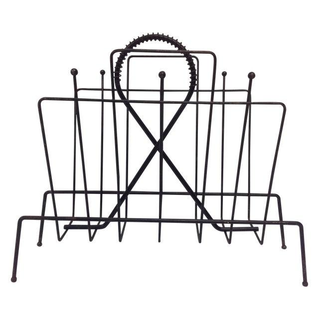 Fredrick Weinberg Mid-Century Magazine Rack For Sale