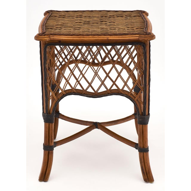 English Wicker Chairs and Table Set For Sale - Image 9 of 10