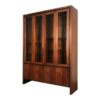 Merton Gershun for Dillingham Mid-Century Modern China Cabinet / Display Case For Sale
