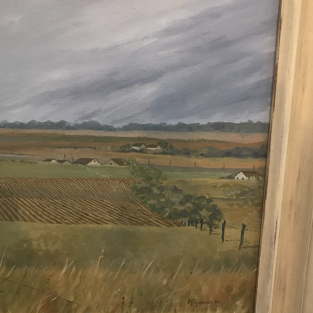 Impressionism 1985 McGuinnis Fall Fields Acrylic Painting For Sale - Image 3 of 6