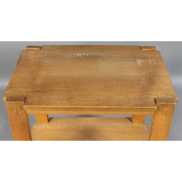 Mid-Century Modern Charlotte Perriand Mid-Century Modern Oak Serving Cart For Sale - Image 3 of 6