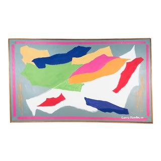 Larry Kessler Composition V Abstract Oil on Canvas Painting, 2007 For Sale