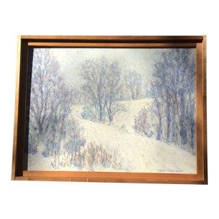 Vintage American Impressionist Landscape Painting For Sale