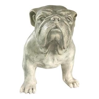 White English Bulldog Dog Statue For Sale