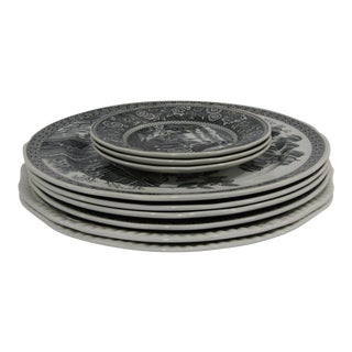 "Spode ""Pagoda"" Plate Set of 9 For Sale"