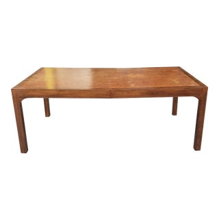 Vintage 1970s Burled Elm Parsons Style Dining Room Table 44 X 80 ~ as Is ~ For Sale