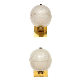 Pair of Handcrafted Murano Glass Sconces For Sale