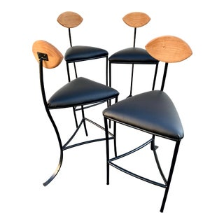 Custom Made Bar and Counter Stools- Set of 4 For Sale