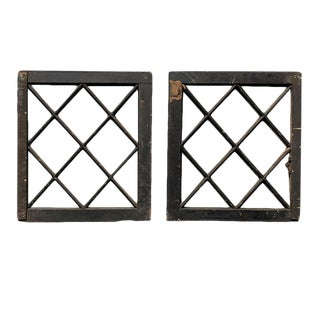 Salvaged Wood Windows - a Pair For Sale