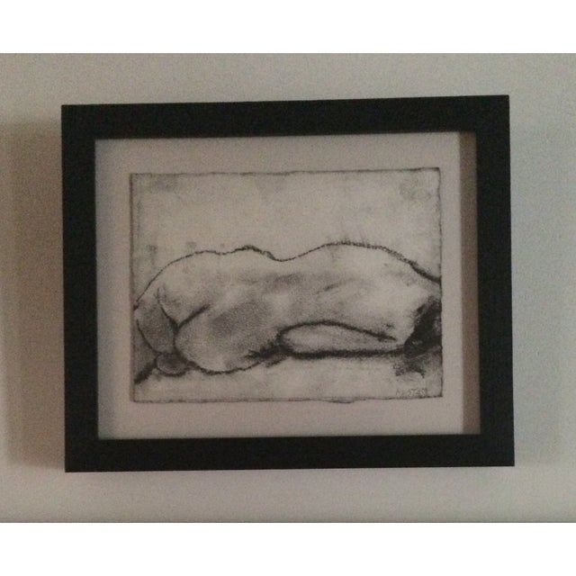 Matt Alston Charcoal Framed Drawing - Nude 16 - Image 2 of 4