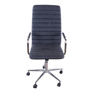 Zuo Modern Pivot Office Chair in Vintage Black For Sale