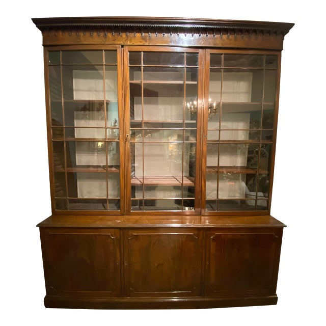 18th Century Chippendale Breakfront For Sale