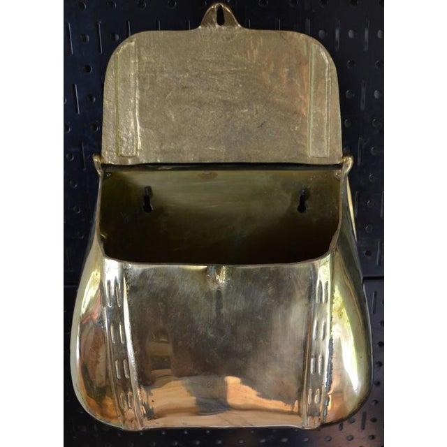 Gold Antique Saddlebag Vintage Solid Brass Mail Box Mailbox For Sale - Image 8 of 10