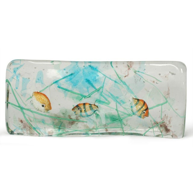 Alfredo Barbini Cenedese Glass Fish Blocks - a Pair - Image 7 of 7