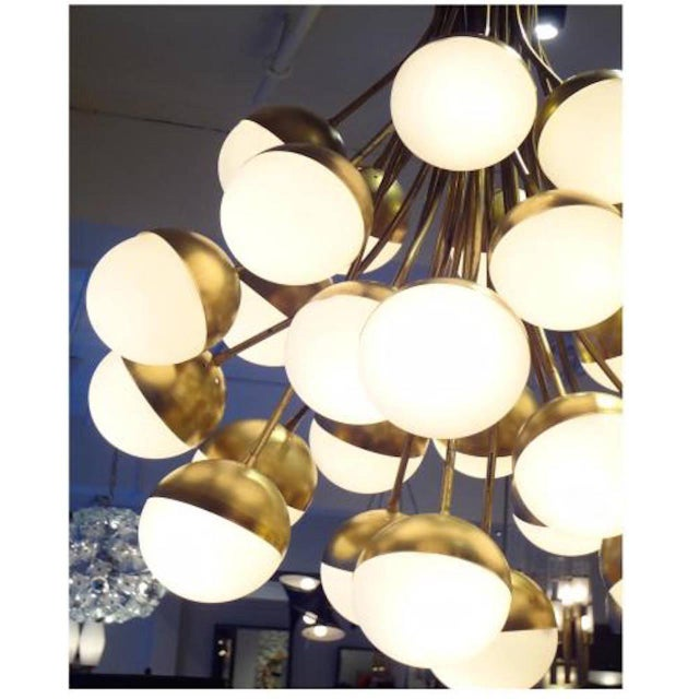 1950s Stilnovo Rare Grand Scale 30-Light Mid Century Chandelier Italy circa 1958 For Sale - Image 5 of 5