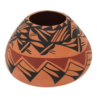 Native American Acoma Indian Pottery Pot For Sale