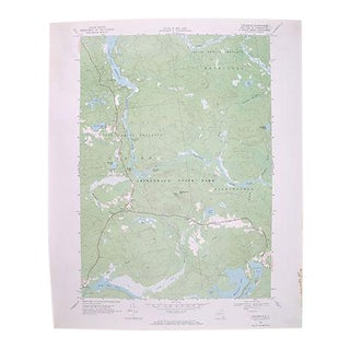 Circa 1968 Childwold, New York Topographic Map For Sale