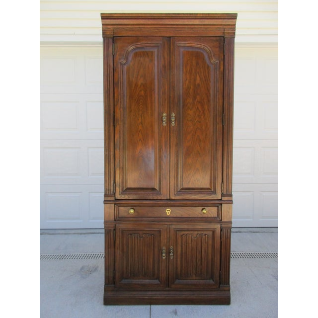 Drexel Lighted Bar Cabinet With Wine Rack - Image 4 of 12