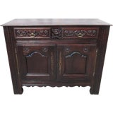 Image of French Antique Carved Sideboard Server For Sale