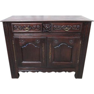 French Antique Carved Sideboard Server For Sale
