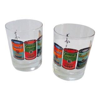 Andy Warhol Campbells Soup Bar Glasses - A Pair