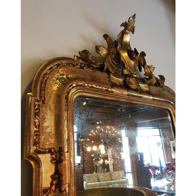 Italian Pair of Venetian Mirrors For Sale - Image 3 of 10