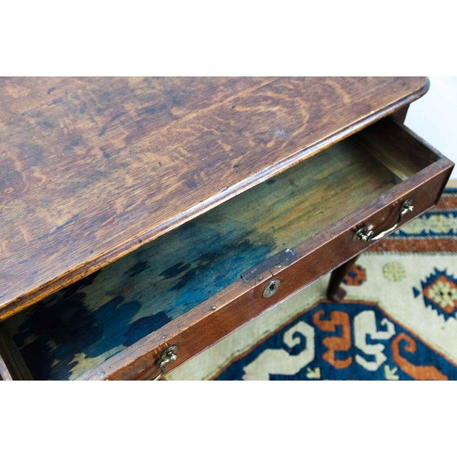 Four Drawer Dressing Table with Original Brass Hardware and Slipper Feet For Sale - Image 4 of 6
