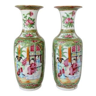 Asian Porcelain Vases, a Pair For Sale