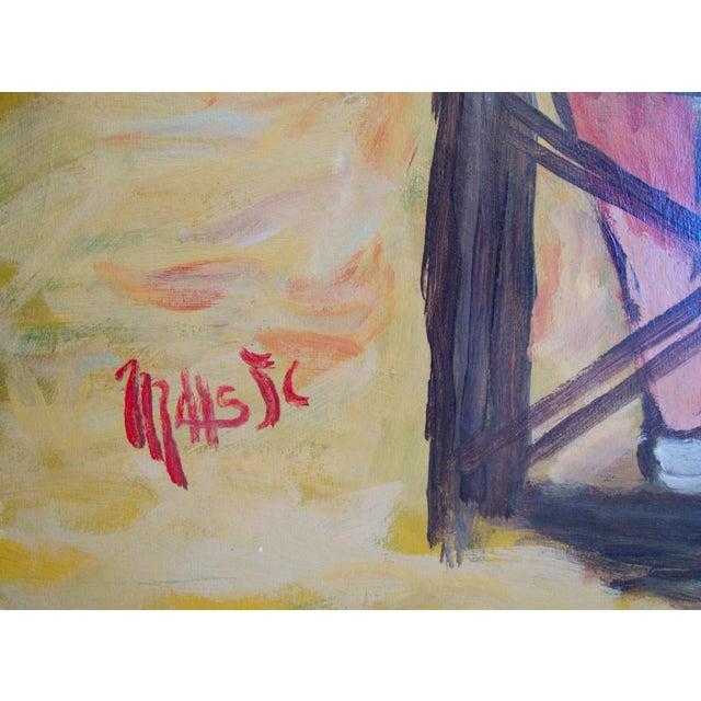 """Jean-Claude Maas """"Les Jumelles à La Plage"""" Painting - Image 2 of 5"""