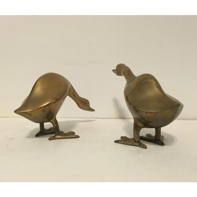 Mid-Century Brass Ducks - A Pair - Image 3 of 4