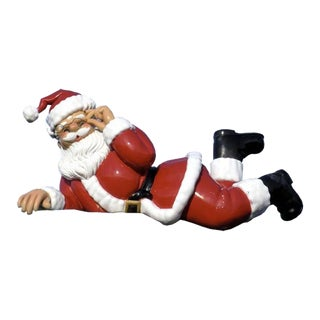 Long Reclining Santa Claus For Sale