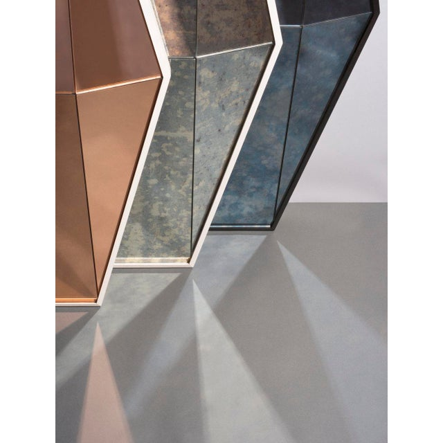 Contemporary Gem Mirror Peach For Sale - Image 4 of 5