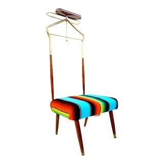 Mid-Century Teak Valet Vanity Chair
