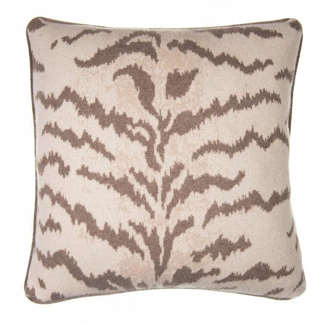 Contemporary Calabria Cashmere Pillow, Natural For Sale - Image 3 of 3