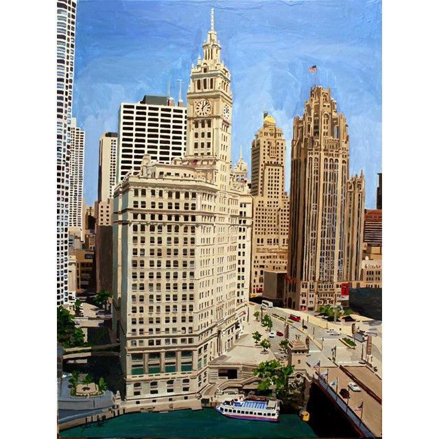"""Chicago's Splendor"" Giclee Print of the Painting - Image 1 of 2"