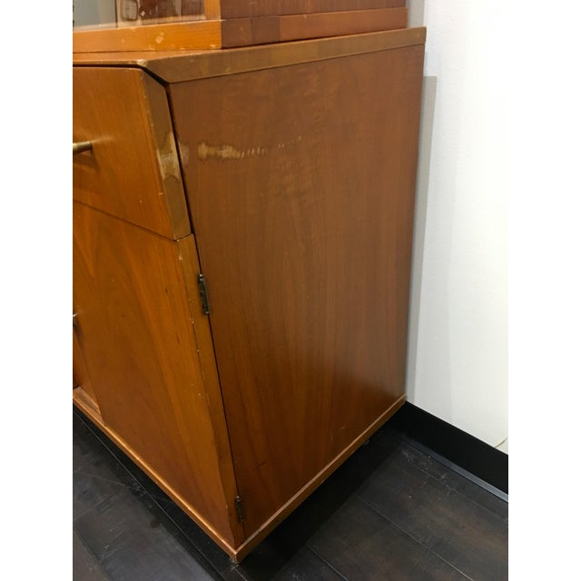 Wood Mid Century Modern Craddock China Cabinet Hutch For Sale - Image 7 of 12