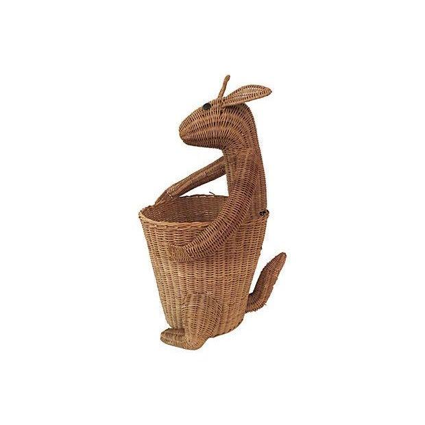 Vintage Rattan Kangaroo Basket - Image 5 of 8