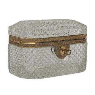 Baccarat Cut Crystal Box For Sale