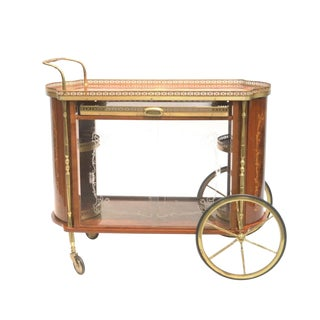 Italian Inlaid Beverage Cart For Sale