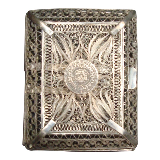 Vintage Filigree Silver Cigarette Case - Image 1 of 6