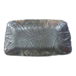 Polished Aluminum Fish Platter by Arthur Court For Sale